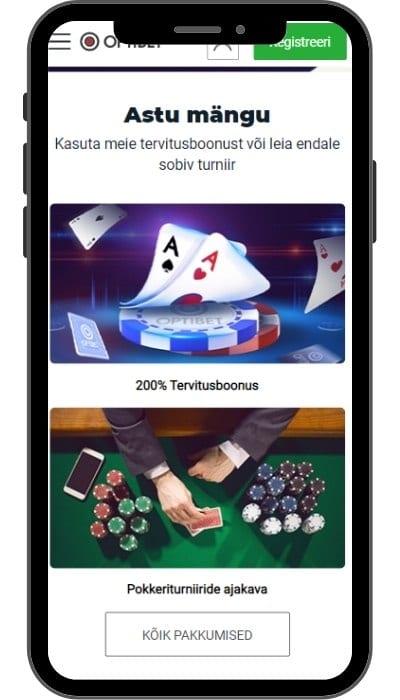 optibet poker