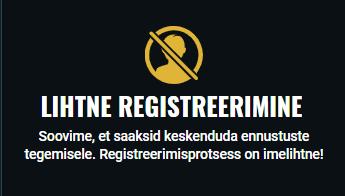 Kuidas kasiinos registreeruda