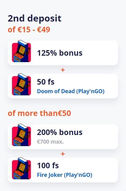 Vulkan Vegas bonuss