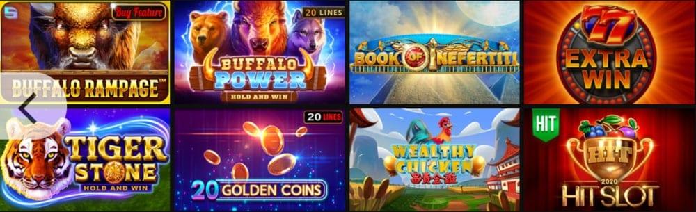 Megapari kazino spēļu piedāvājums