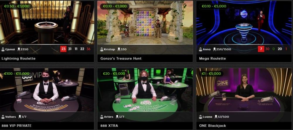 Игры в живом казино